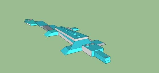 blå krokodil